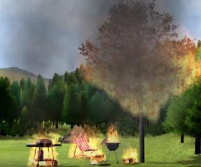 İtfaiyeci Sam Piknikte Yangın