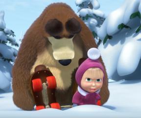 Maşa ile Koca Ayı Buz Üstünde Tatil
