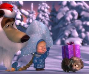 Maşa ile Koca Ayı Noel Baba Görevi
