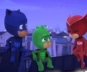 Pijamaskeliler Uçan Üçlü Kahramanlar